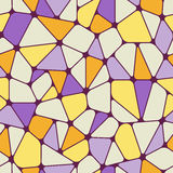 Colorful abstract seamless pattern. Geometric objects like stained glass. Vector illustration Royalty Free Stock Photo