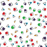 Colorful abstract seamless pattern. Simple style. For web design stock illustration
