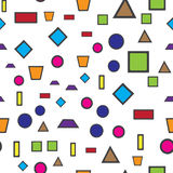 Colorful abstract seamless pattern. Simple style. For web design vector illustration