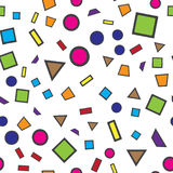 Colorful abstract seamless pattern. Simple style. For web design royalty free illustration
