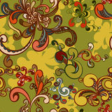 Colorful abstract seamless pattern with swirls Stock Images