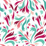 Colorful abstract seamless pattern. Vector, colorful abstract seamless pattern. Retro, abstract. On a white background Royalty Free Stock Photo
