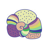 Colorful abstract seashell. Soft colors. Royalty Free Stock Photography