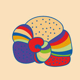 Colorful abstract seashell. Vector illustration. Royalty Free Stock Images