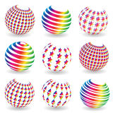 Colorful abstract set of balls. Royalty Free Stock Photo