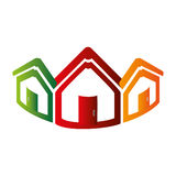 Colorful abstract set collection houses icon design Royalty Free Stock Image