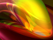 Colorful abstract shapes. Colorful 3d organic abstract shape for background Royalty Free Stock Photos