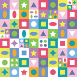 Colorful abstract shapes background Stock Image