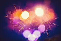 Colorful abstract shot with sparks. And blurry circles Stock Photography
