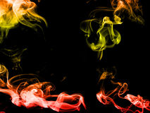 Colorful abstract smoke  on black background Stock Photo
