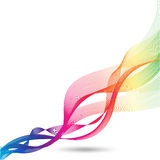 Colorful abstract smoke waves Stock Photos