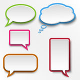 Colorful abstract speak bubbles template Royalty Free Stock Photos