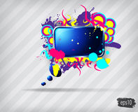 Colorful abstract speech bubble Royalty Free Stock Image