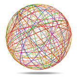 Colorful Abstract Sphere on white background. 3d Image royalty free illustration