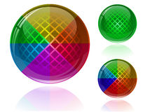 Colorful abstract spheres Stock Images