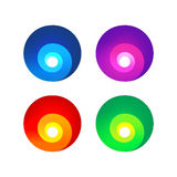 Colorful abstract spiral signs Stock Images