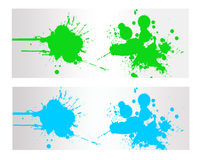 Colorful Abstract  Splash Banner. And Backround Royalty Free Stock Photo