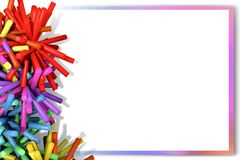 Colorful abstract sticks on a white background. Royalty Free Stock Photography
