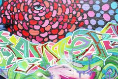 Colorful abstract street art, Adelaide, South Australia Stock Image