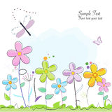 Colorful abstract summer flower greeting card Stock Photography