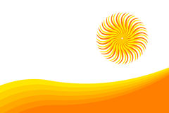 Colorful abstract sun. With blending waves Stock Illustration