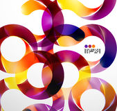 Colorful abstract swirl background Royalty Free Stock Images