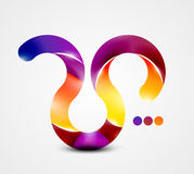 Colorful abstract swirl shape Stock Image