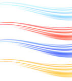 Colorful abstract swoosh wave dividers collection Royalty Free Stock Photo
