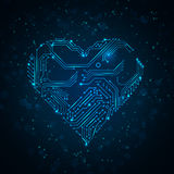 Colorful abstract technology heart. Stock Photo
