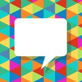 Colorful abstract template with speech bubbles Stock Images