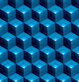 Colorful abstract textured geometric seamless pattern with 3d ge Stock Photos