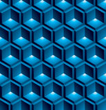 Colorful abstract textured geometric seamless pattern with 3d ge. Ometric figures. Vector bright textile backdrop Royalty Free Stock Photography