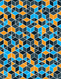 Colorful abstract textured geometric seamless pattern. Vector br Stock Photos