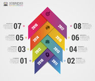 Colorful abstract timeline infographics. Arrow concept. Vector Stock Photos