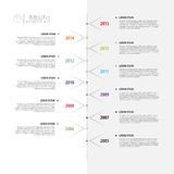 Colorful abstract timeline infographics. Vector illustration Stock Image