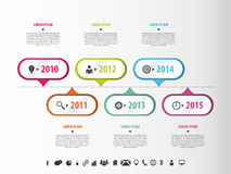 Colorful abstract timeline infographics. Vector illustration Stock Images