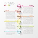 Colorful abstract timeline infographics. Vector illustration Royalty Free Stock Images