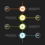 Colorful abstract timeline infographics. Vector illustration Stock Photography