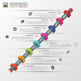Colorful abstract timeline infographics. Vector illustration Royalty Free Stock Photography