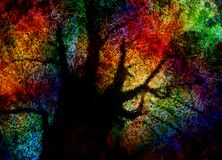 Colorful Abstract Tree stock illustration