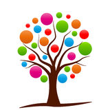 Colorful abstract tree Stock Photo
