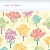 Colorful abstract trees horizontal torn seamless Royalty Free Stock Photos