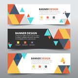 Colorful abstract triangle corporate business banner template, horizontal advertising business banner layout template flat design royalty free illustration