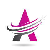 Colorful Abstract Triangle Symbol of Letter A Stock Photo