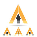Colorful Abstract Triangle Symbol of Letter A Stock Photos