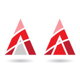 Colorful Abstract Triangle Symbol of Letter A Royalty Free Stock Photo