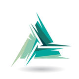 Colorful Abstract Triangle Symbol of Letter A Royalty Free Stock Images