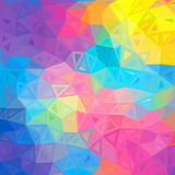 Colorful abstract triangles vector background Stock Photos