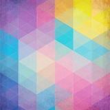 Colorful abstract triangles vector background Stock Images