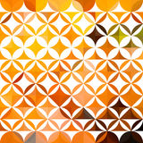 Colorful abstract triangular orange pattern Stock Images